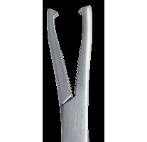 Bone block clamp DINGMANN, 19cm, curved