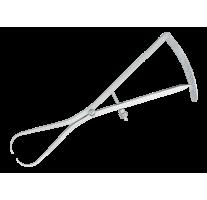 Caliper CASTROVIEJO, 9 cm, 0-20mm, round