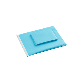 Sterile surgical drape with adhesive